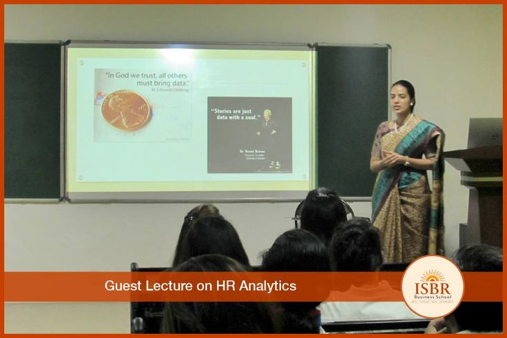 #ISBR had Ms. Sowmya, Sr. Analytics Manager from @BlueOcean to address the students on 'HR Analytics' which was conducted on 8th Feb 2017. Students were very much involved and proactive towards the session as she discussed present day trends in#dataanalytics and its implementation in #HR #Recruitment, #Retention, #TalentAcquisition and a lot more.