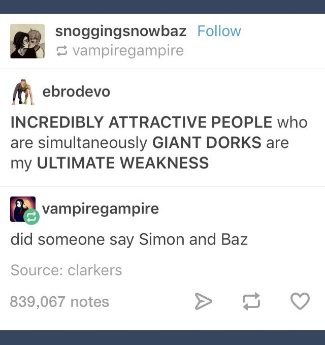 Simon, Baz, Dan, Phil... Just all the faves