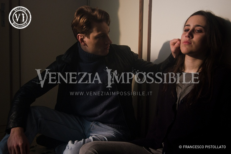 Edoardo Raggi [attore] e Elena Semenzato [co-protagonista].  Location: abitazione privata, Fontane di Villorba.