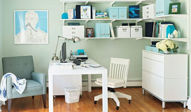 Desk Against The Wall On An End I Love The White And