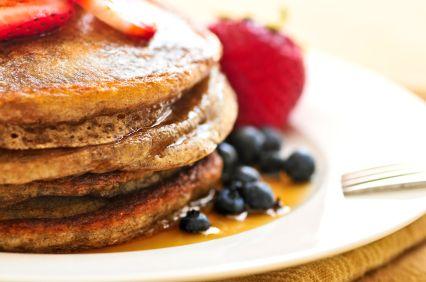 Orange-Banana Whole-Wheat Pancakes