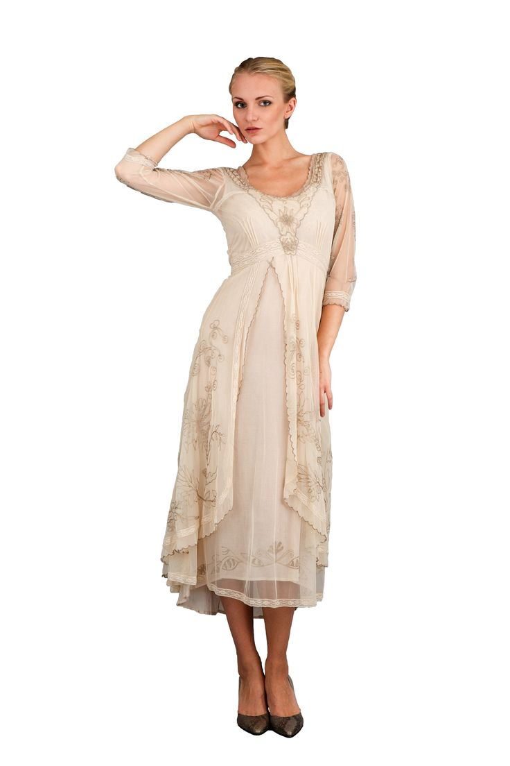 1920s Day Dresses Tea Garden Party Vintage Style Wedding