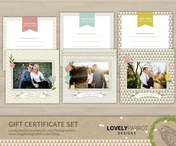 8 best gift certificate images on Pinterest Adobe photoshop - photography gift certificate template