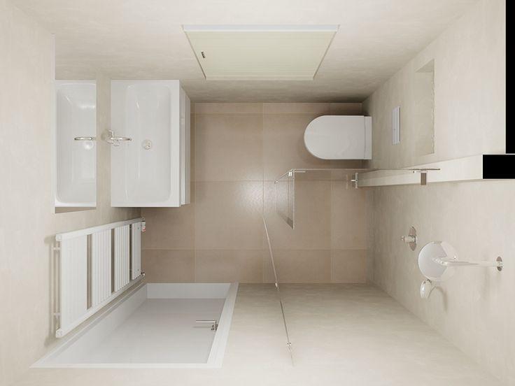 ... Kleine Badkamer Indeling op Pinterest - Badkamer Inrichting, Kleine