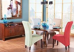 The blue, green and cream are our new dining room chairs (not the table): Dining Rooms, Kitchen Tables, Color, Dream House, Modern Www Roomstogo Com, Dining Sets, Pc Dining, Dining Room Chairs