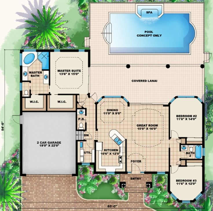 this mediterranean design floor plan is 1786 sq ft and has 3 bedrooms and has bathrooms