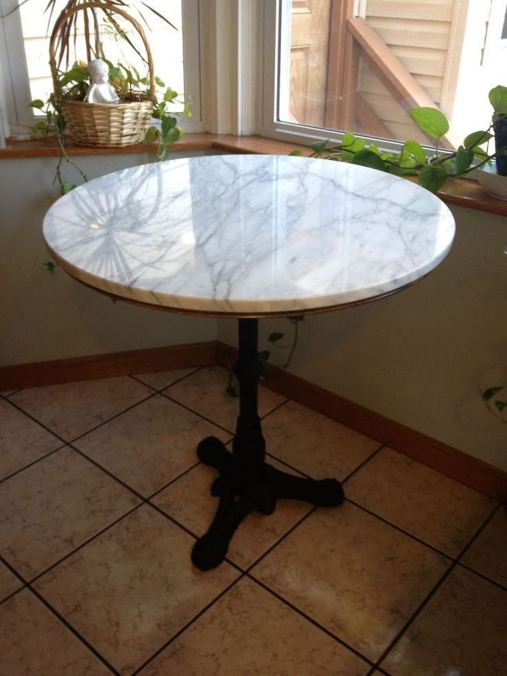 Retro Cafe Table And Chairs Modern Grey Leather Dining By The Brooke: Kitchen ~ Marble Bistro For Under $200 - Thank You Craigslist ...