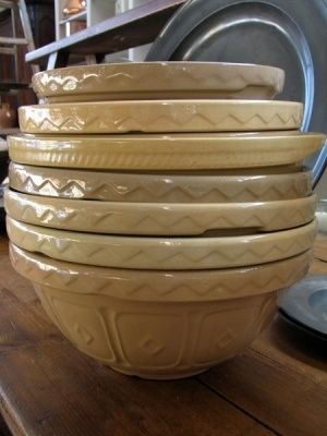Vintage Mason Cash bowls (back when they were actually made in England.)
