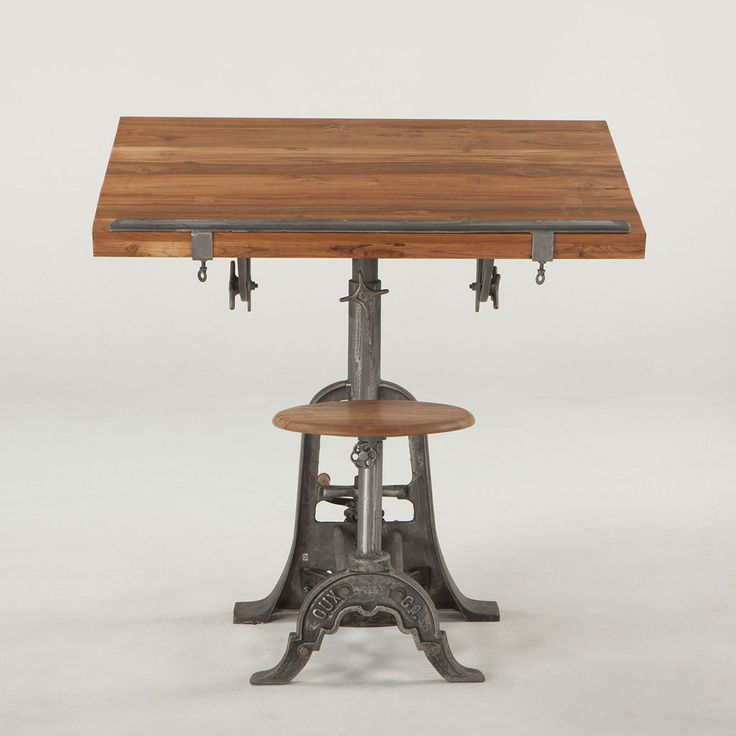 Industrial Loft Drafting Desk