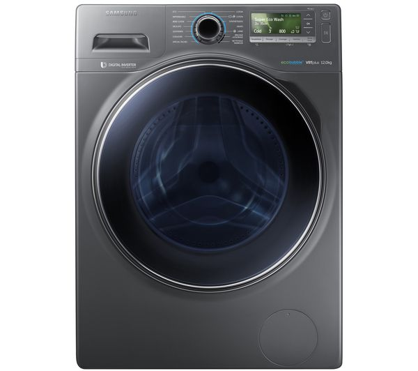 Buy SAMSUNG ecobubble™ WW12H8420EX Washing Machine - Graphite | Free Delivery | Currys #DreamKitchen