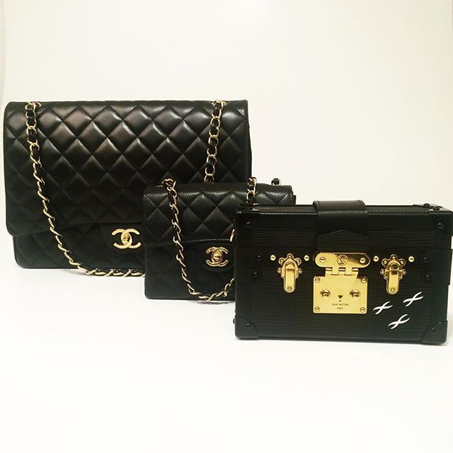 Chanel timeless and Petite Malle from Louis Vuitton. CBL Bags,