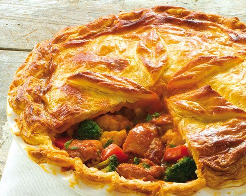 Butter Chicken and Chunky Vegetable Pie recipe from Food in a Minute
