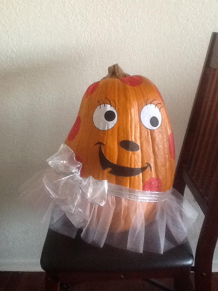 No Carve Girly Pumpkin Halloween Pinterest Pumpkins