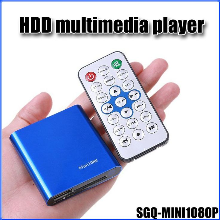 JEDX Mini Full HD 1080P HDD Media Player with HDMI/AV/USB/SD/MMC multimedia player Blue-ray DVD movies HDMI output  //Price: $51.25//     #Gadget