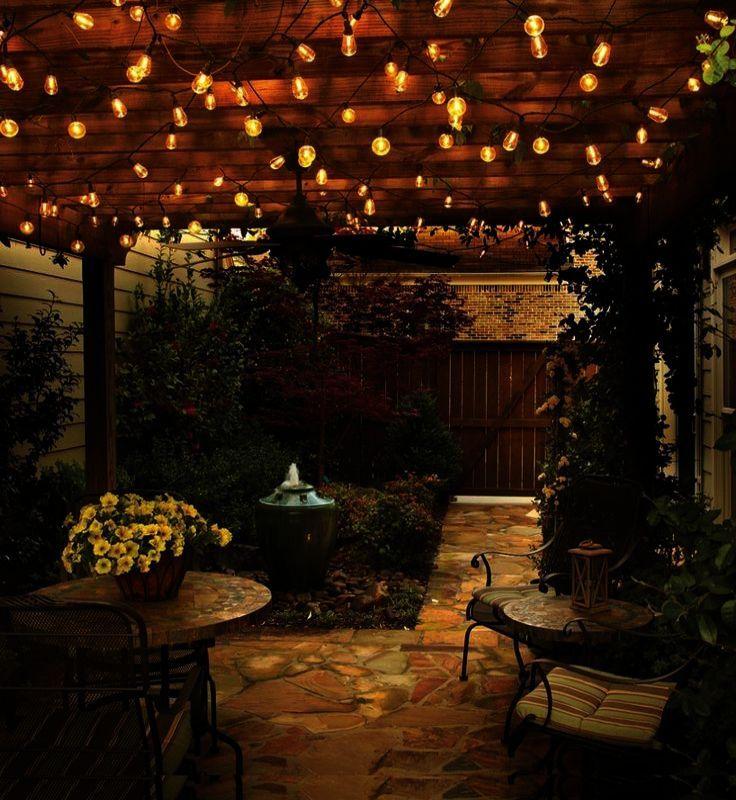 Landscape Ideas For Terraced Backyards Much Landscape Design Backyard Pictures But Landscape G Outdoor Patio Lights Diy Outdoor Lighting Garden Lighting Design