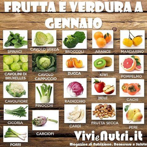 frutta e verdura a gennaio