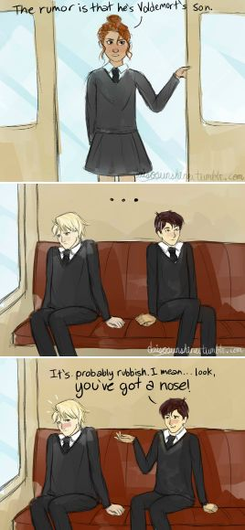 We have a canon nose joke, guys. - The Cursed Child by http://daisosunshine.tumblr.com/