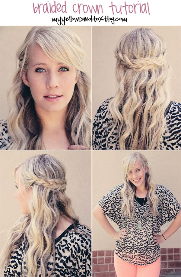 EASY tutorial.  No french braiding required
