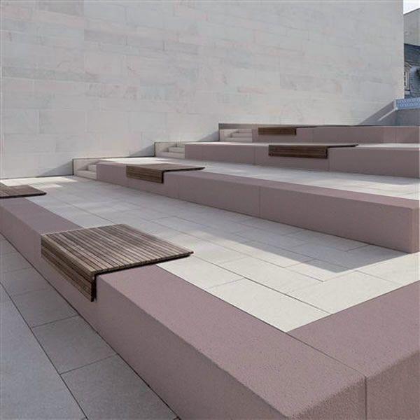 SYNOPS® - Bancs, murets bancs, sièges, gradins et bains de soleil  béton poli - Mobilier Urbain - Quartzo Design - urban design