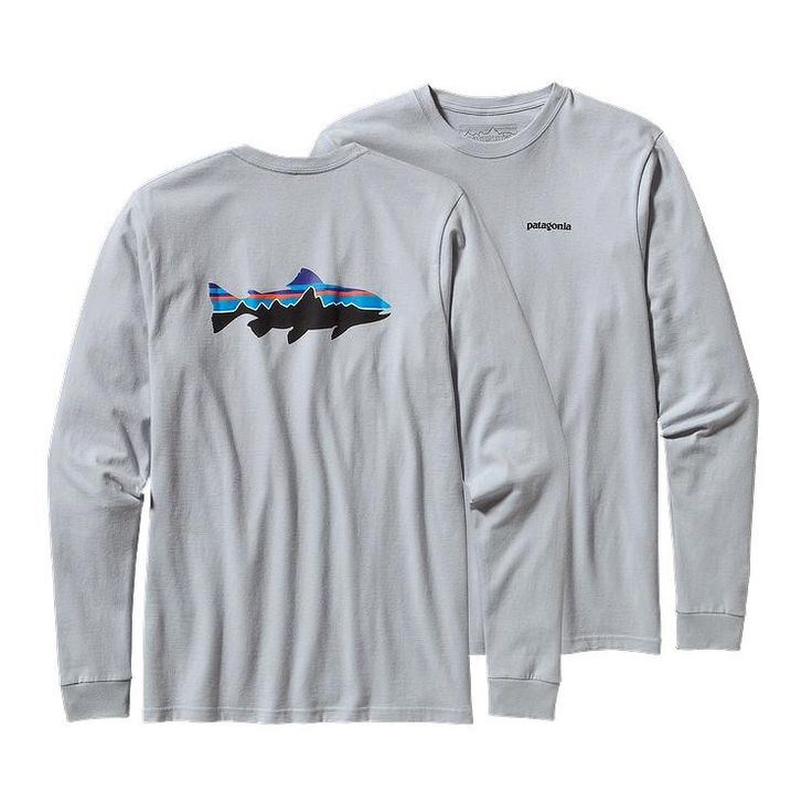 Patagonia Men's Long Sleeve Fitz Roy T-Shirt- Grey from Shop Southern Roots  TX