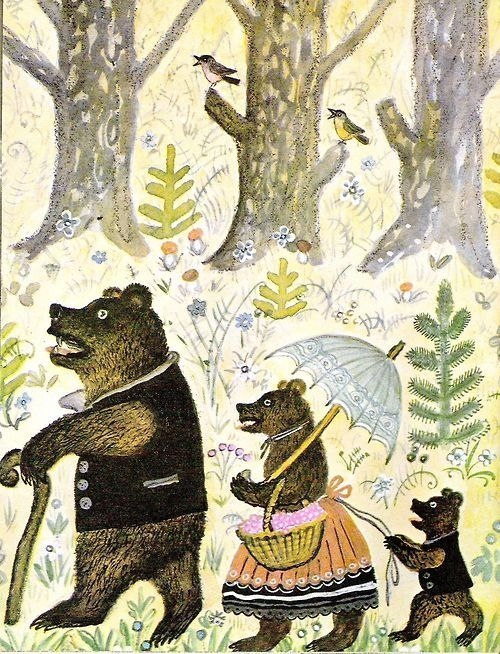 Three bears family.  One of my favorite picture book.