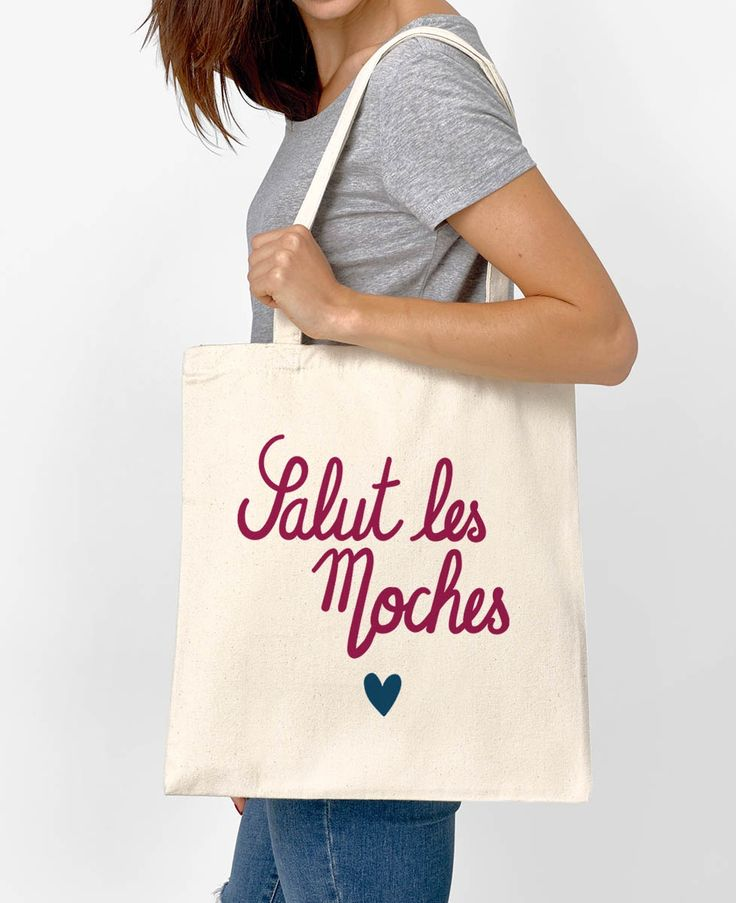 Totebag Femme Salut Les Moches Naturel by Madame TSHIRT