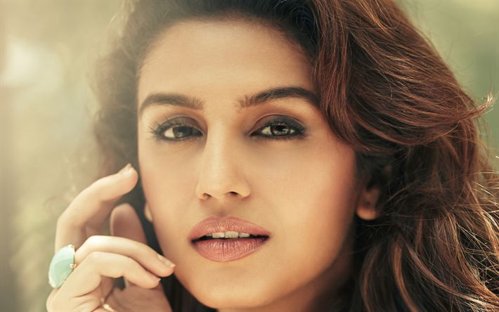 Hämta bilder Huma Qureshi, 4k, porträtt, brunett, vackra ögon, bollywood, indiska kvinnor, Indisk skådespelerska