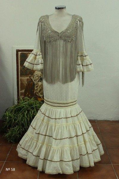 Maria Isabel Ruiz trajes de flamenca desde 100 euros - TRAJES DE FLAMENCA ESCLUSIVOS DE SRA 2014 Canastero y flecos
