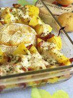 gratin de pommes de terre au camembert et au miel