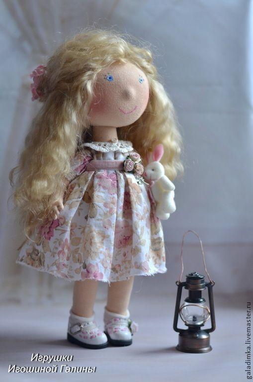 Купить Маленькая девочка))) Ищет мамочку))) - кремовый, текстильная кукла, игошина галина, авторская кукла