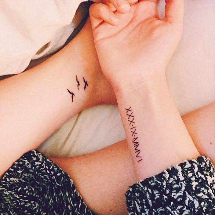 #romannumbers #smalltattoo #roman #numbers #birds #seagulls #seagull #seagulltattoo #small #tattoo #girl #tattoo #tattoowrist #wristtattoo