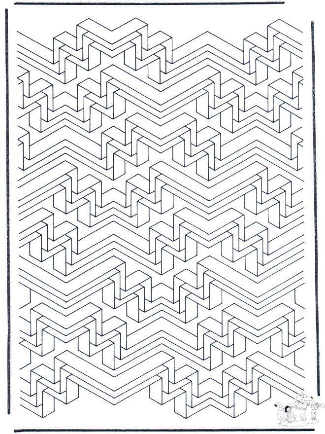 Geometric Coloring Pages | Allerlei Kleurplaten / Kunst kleurplaten / Geometrische vormen 6