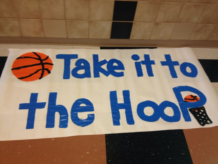 Cute basketball sign