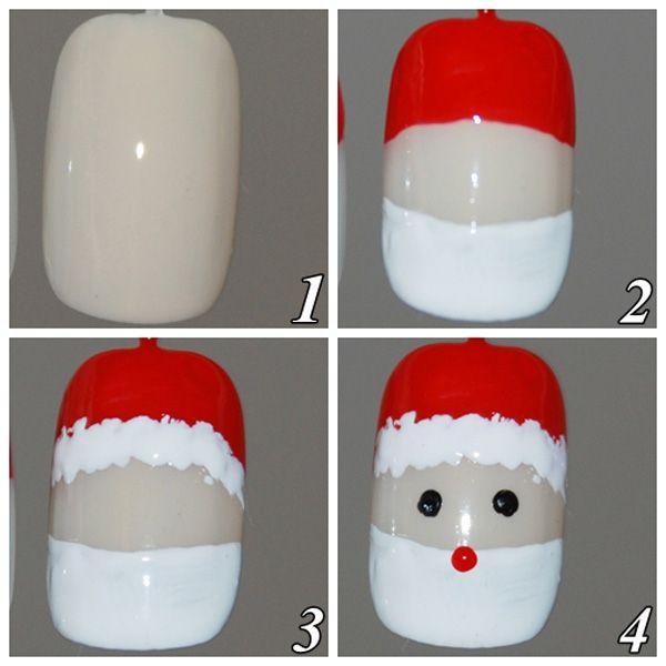 Unhas decoradas para o natal, passo a passo1