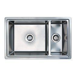BREDSKÄR lavello da incasso 1 vasca e ½, inox Profondità: 48 cm Altezza: 18 cm Larghezza: 77 cm