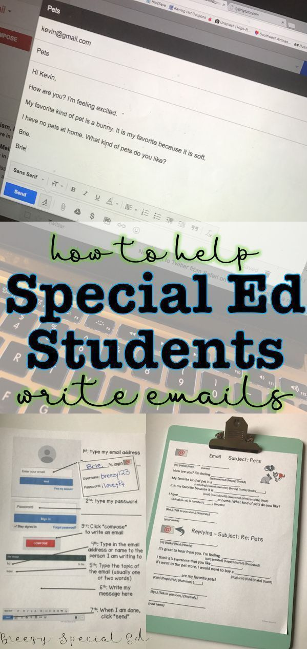 Writing Emails – Supports for Special Education Students