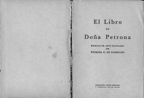 Este libro es una fotocopia del original libro de Doña Petrona C. de Gandulfo, de Cocina para todos los dias y para fiestas- Son las recetas clave de su cocina, y el ABC de la Cocina Hispano Argentina