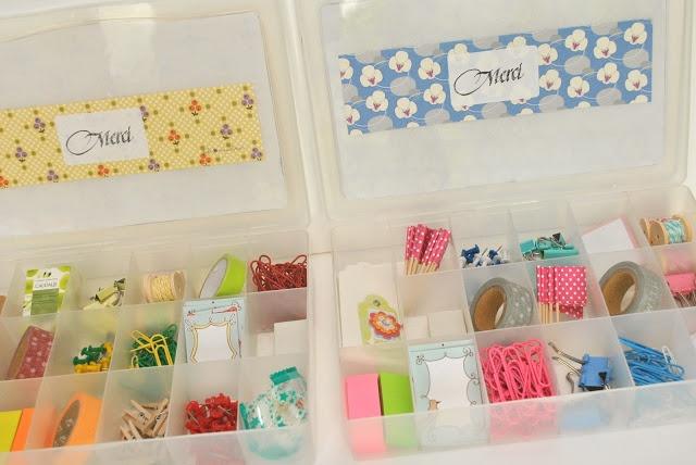 Ma Petite Valisette: Cadeau pour la maitresse :-) à remplir de masking tape, tampons rigolos, étiquettes création maison et petites pinces mignonnes