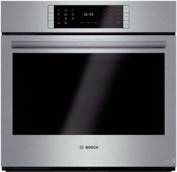 Bosch HBLP451UC 30 Inch Single Electric Wall Oven with 4.6 cu. ft. European Convection Capacity, EcoClean Self-Clean, 14 Cooking Modes, Fast Preheat and Temperature Probe