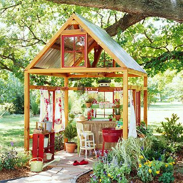Loving this structure: can use for #gardening, drawing, relaxing, play room #garden #backyard #kids