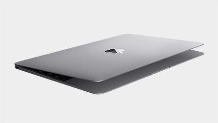 the New Macbook (space grey)