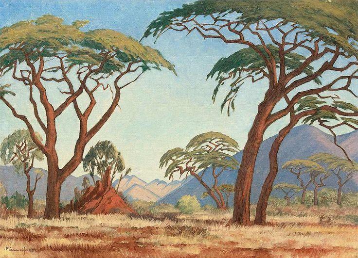Jacobus Hendrik Pierneefs Beautiful African Landscapes Lazer Horse