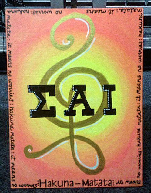 When symbol for Hakuna Matata looks like a treble clef Sigma Alpha Iota Canvas