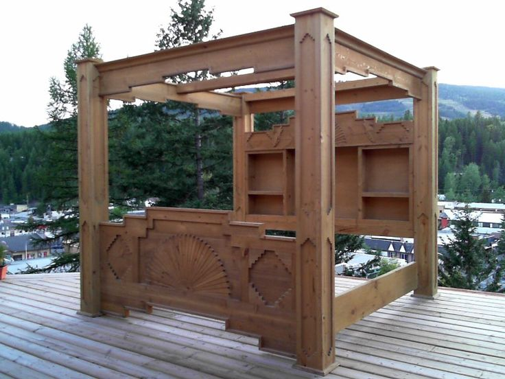 Custom built south western style canopy bed made from for Western style beds