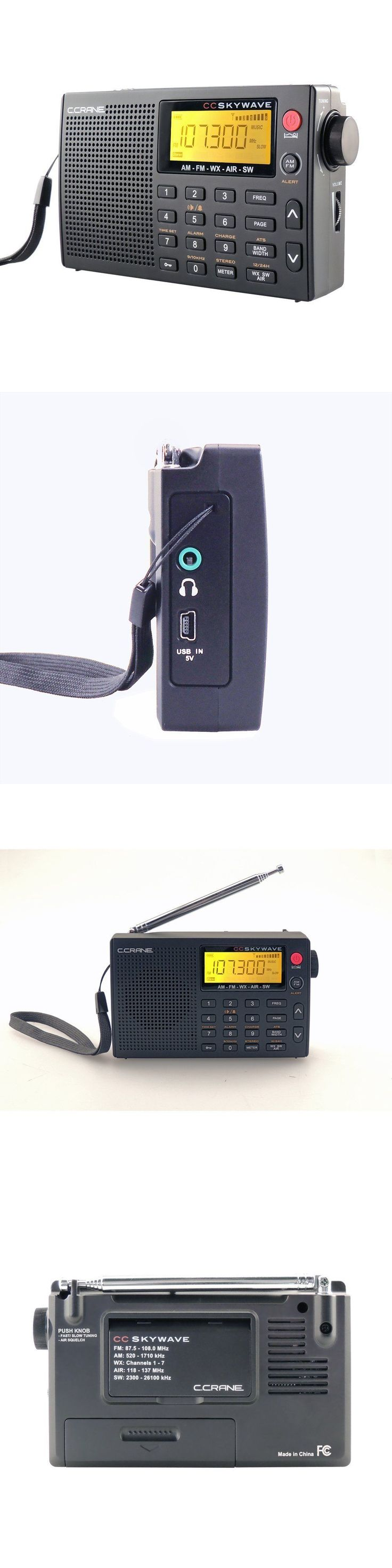 Portable AM FM Radios: C Crane Skywave World Radio With Cc Buds And Carry Case #Skwv Free Shipping BUY IT NOW ONLY: $89.99