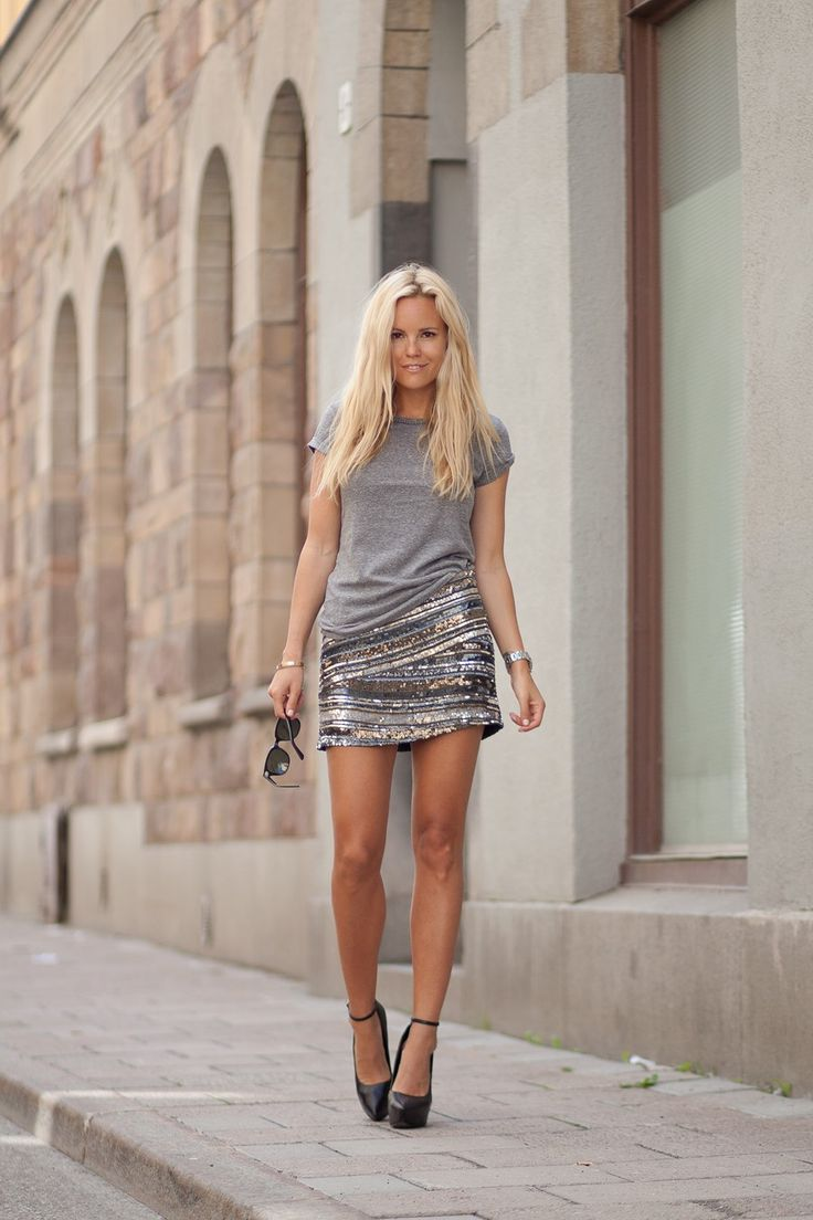 love it all.: Sequin Skirt, Fashion, Skirts, T Shirt, Style, Dress, Outfit, Sparkly Skirt