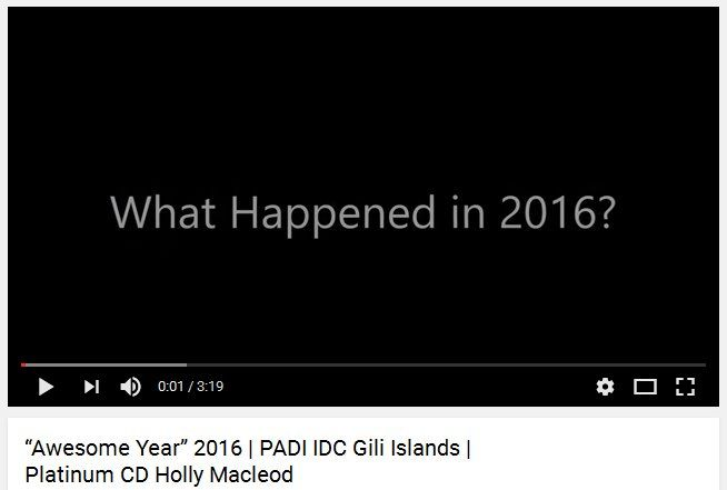 2016 on the PADI Scuba Diving Instructor Development Course (IDC) with Multi Award Winning Triple Platinum PADI Course Director Holly Macleod was amazing and we saw some fantastic professional divers become PADI Scuba Diving Instructors in the Gili Islands, Indonesia #padiidc https://www.youtube.com/watch?v=Kjjk6H56b8s