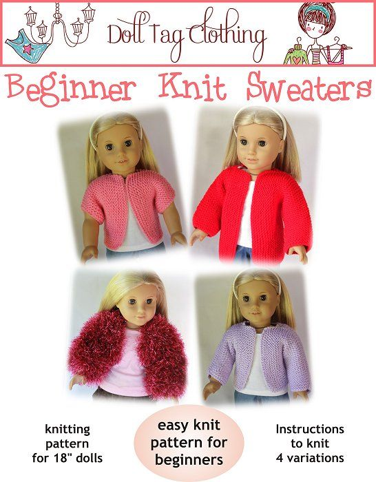 Teach your little girl to knit! FREE pattern - uploaded today 19 September 2012