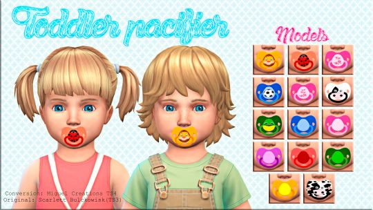 Sims 4 Cc S The Best Toddler Pacifier Acc By Victorrmiguellcreations Ƭн Ѕ ϻs Pinterest