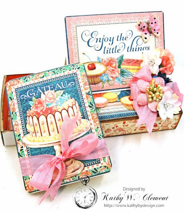 Enjoy the Little Things in Life Gift Card Holder Cafe Parisian by Kathy Clement for Really Reasonable Ribbon Product by Graphic 45 Photo 6